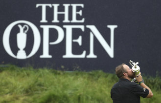 Ireland's Shane Lowry kisses the Claret Jug after winning the 2019 British Open Golf Championships at Royal Portrush.