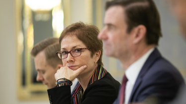 Former US ambassador to Ukraine Marie Yovanovitch became a primary target.