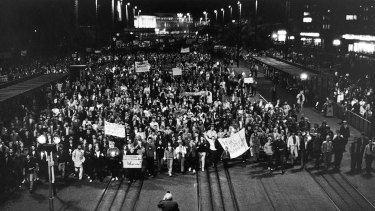 Blessed are the peacemakers: Protesters in Leipzig on October 9, 1989.
