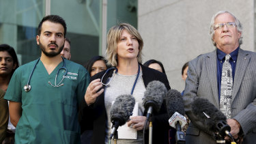 Doctors met at Parliament House on Monday to urge Labor to back the bill allowing easier medical transfers.
