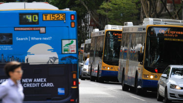 The CBD is clogged with buses but most Brisbane residents aren't so lucky.