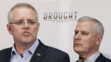 Prime Minister Scott Morrison and Deputy Prime Minister Michael McCormack on Friday.