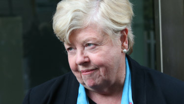 Former police chief Christine Nixon after giving evidence to the royal commission last year.