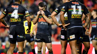 Stinker: James Maloney during the awful loss to the Warriors.