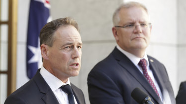 Tuesday's federal budget is expected to include record health spending and Health Minister Greg Hunt, left, has pledged to increase mental health funding.
