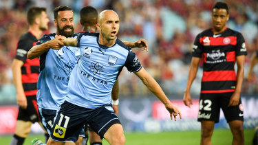 The Sydney derby is among several matches due to kick off earlier this season as part of a potential broadcast deal with Ten.