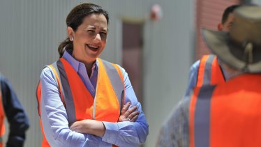 Queensland Premier Annastacia Palaszczuk tours Rockhampton's railway workshops on Thursday