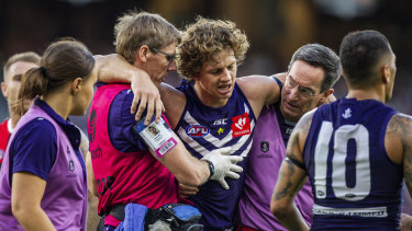 Fremantle captain Nat Fyfe is out of Saturday night's derby.