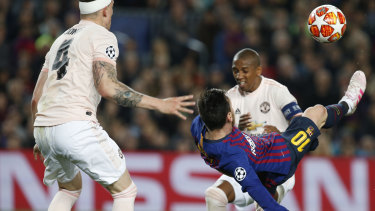 Lionel Messi attempted to complete his hat-trick with a bicycle kick.