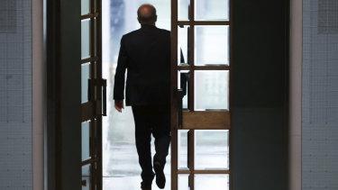 Scott Morrison leaves the House of Representatives on Thursday.