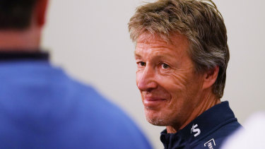Craig Bellamy  is out to steer the Storm into a fourth consecutive grand final.