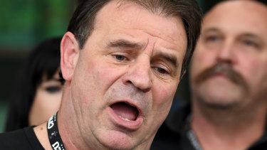CFMEU Victorian secretary John Setka with his deputy Shaun Reardon last year after blackmail charges were dropped.