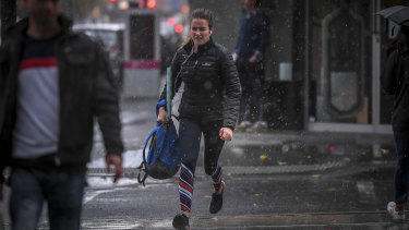 Melburnians have been caught by an early blast of winter.