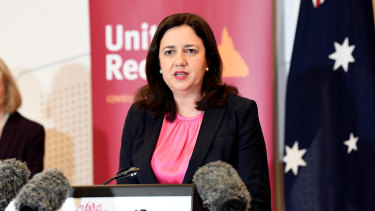 Queensland Premier Annastacia Palaszczuk opened borders to every state except Victoria.