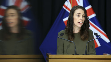 New Zealand Prime Minister Jacinda Ardern. The country's GDP slump was the worst on record.