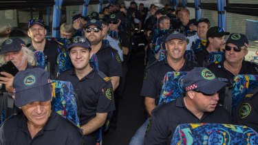 Queensland firefighters leave for NSW to help out on a week-long deployment in Sydney and Wollongong.