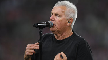 Daryl Braithwaite performed his classic hit Horses at the NRL grand final.