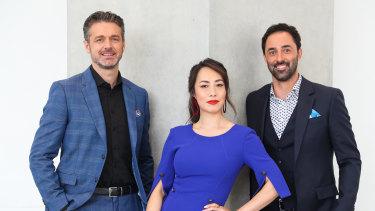 New Masterchefs Jock Zonfrillo, Melissa Leong and Andy Allen.