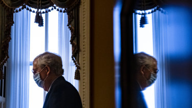 US Senate Majority Leader Mitch McConnell agreed to a power sharing agreement with Democrats.