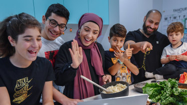 Fahour family members Hannah, Ali, Maysaa, Zackaria, Moustafa and Zayd are planning to break the fast via Zoom with their extended family rather than meet in person.