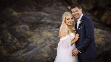 Hayley Jensen and Kris Severijns on their wedding day.