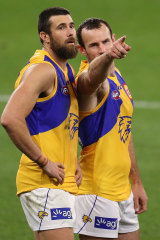 Josh Kennedy (right) and Shannon Hurn will continue on in 2021.