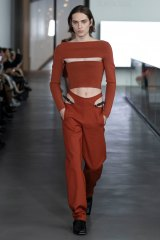 Dion Lee, Tube top and Y-front trousers, Look 39, Fall 2020.