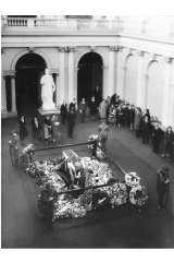 Sir John Monash lying-in-state in the Queen's Hall, Parliament House, Melbourne.