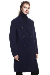 A coat from the Jil Sander x UNIQLO J+ range.