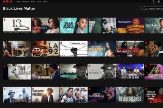 Netflix has launched a Black Lives Matter index page on its US service.