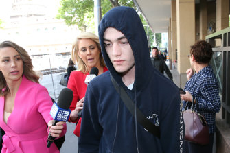 Isaiah Stephens leaves court on Wednesday.
