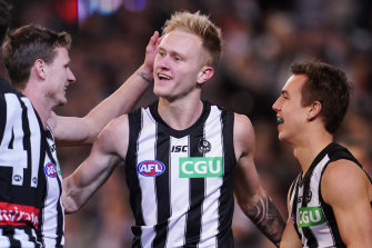 Jaidyn Stephenson was impressive in his return for the Magpies.