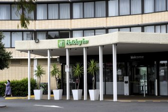 The Holiday Inn at Melbourne Airport on Monday.