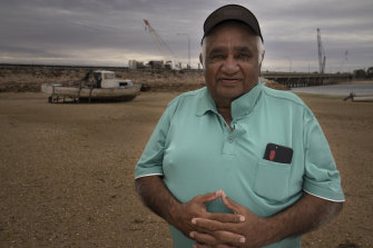 """Adnyamathanha elder Tiger McKenzie says, """"All we want is to see the finances."""""""