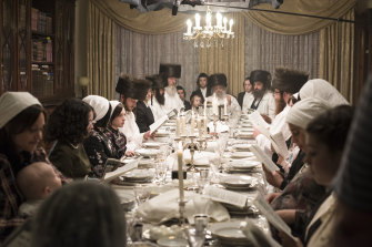 An arranged marriage isn't for Esther Shapiro, centre left, in Unorthodox.