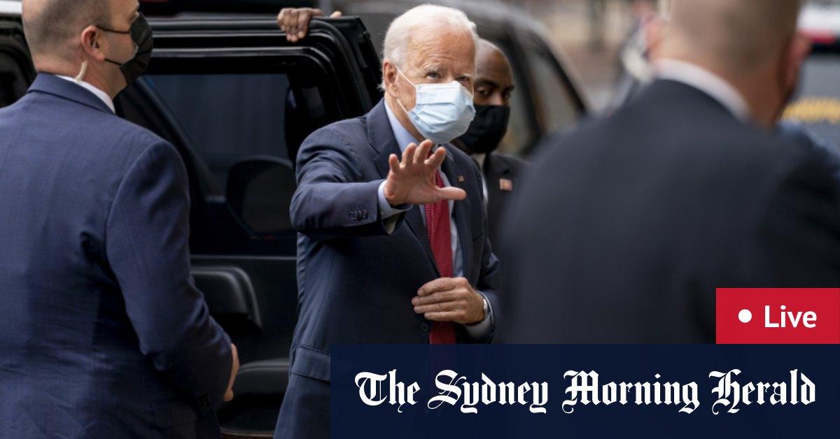 US election 2020 LIVE updates: Donald Trump speaks in Arizona Joe Biden votes as poll shows Biden leads in Michigan Wisconsin – The Sydney Morning Herald