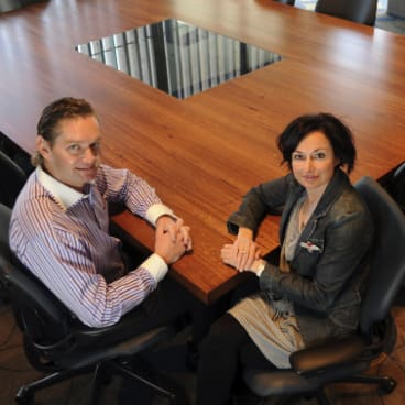 Anton and Melinda Wilson at Mider in 2010.