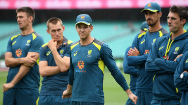 Not up to scratch: the absence of Steve Smith and David Warner is an easy excuse for Tim Paine's Australians to hide behind.