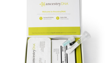 An Ancestry DNA testing kit.