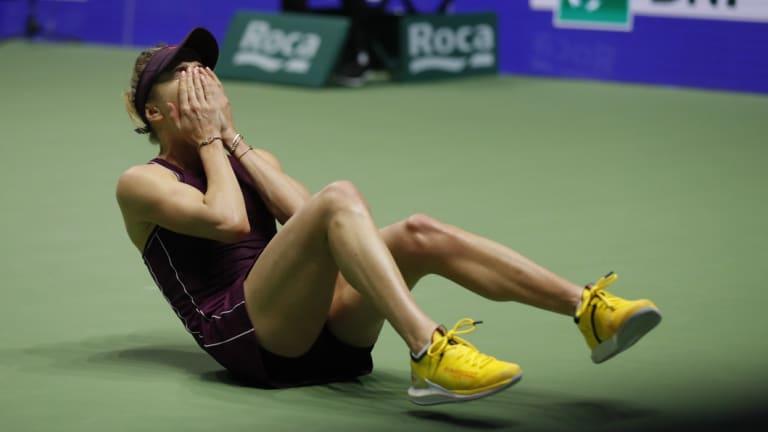 The moment Elina Svitolina defeated Sloane Stephens.