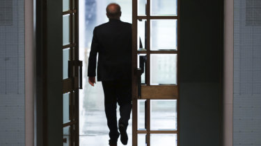 Scott Morrison leaves the House of Representatives on Thursday.