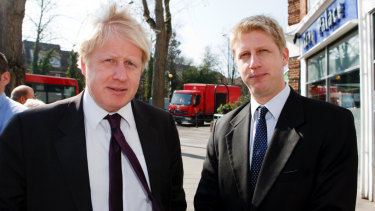 """Boris Johnson with his brother Jo in 2013. In the latter's resignation letter from Theresa May's cabinet, Jo said Brexit has """"divided the country... divided political parties, and it has divided families, too""""."""