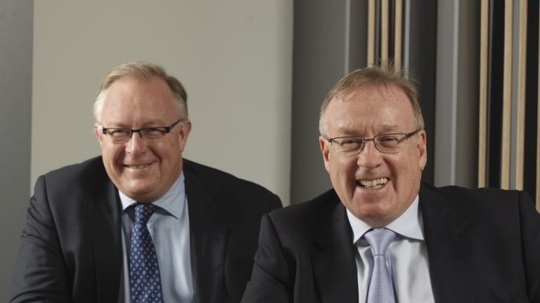 Judo co-founders David Hornery (left) and Joseph Healy. Healy is the former head of NAB business banking.