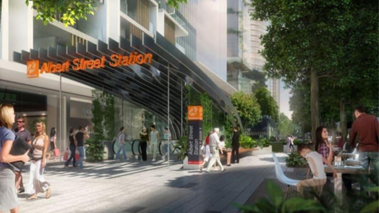 Cross River Rail's proposed Albert Street Station.