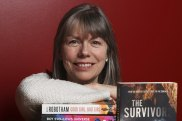 Sue McKerracher, CEO of the Australian Library and Information Association, with some of the most borrowed fiction books this year.