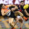 As it happened: Melbourne Demons pip GWS Giants to stay alive, Port Adelaide Power smash Essendon Bombers in the wet, Fremantle Dockers flog North Melbourne Kangaroos