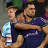 Storm soar past Sharks for fifth win on the trot