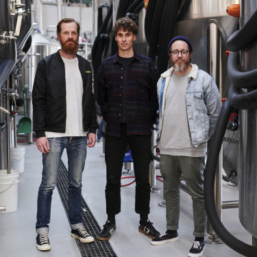 Heaps Normal founders Andy Miller, Ben Holdstock and Peter Brennan.