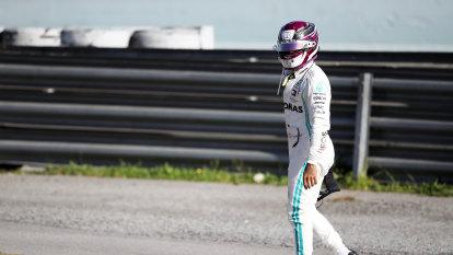 Vettel brings Ferrari up to speed as Hamilton has engine trouble