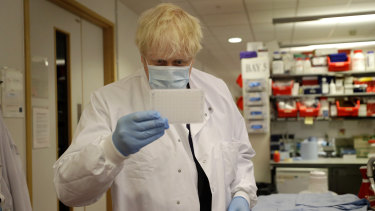 PM Boris Johnson, pictured, is due to make an announcement about possible new restrictions on Tuesday, in the UK.